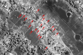 Satellite images indicate heavy weapons are being used in civilian areas