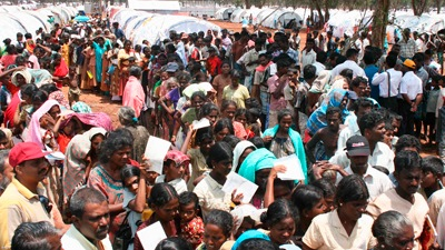Refugee camps in Sri Lanka