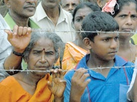 Over 300,000 Tamils are languishing in interment camps