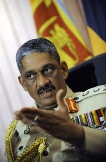 Sri Lanka called on US authorities to drop plans to interview the island's military commander, General Sarath Fonseka, over allegations of war crimes against ethnic Tamil rebels, an official said Sunday.