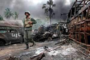 Sri Lanka's victorious military campaign against Tamil rebels this year was dogged by allegations of rights abuses. Sri Lankan Defense Minstry of Defence / AFP