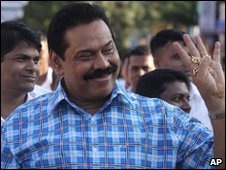 President Rajapaksa's popularity was high at the end of the civil war