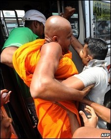 The arrested monks belong to a left-wing nationalist party