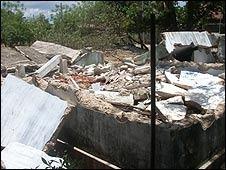 It's not clear how Prabhakaran's house was razed (Photo: Sivajilingam)