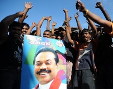 At the January presidential poll, Rajapakse won the votes of most of the Sinhalese ethnic group, to which he belongs afp