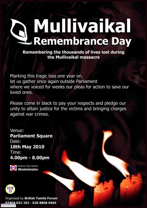 Mullivaikal Remembrance London2