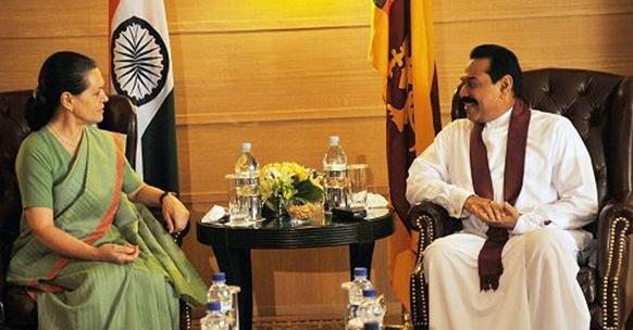 Ms. Sonia Gandhi visits Rajapaksa