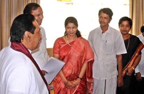 21 MPs from Tamil Nadu led by M.R. Baalu meet Sri Lankan President
