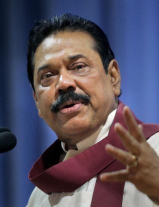 AP Sri Lankan President Mahinda Rajapaksa.  ap
