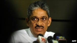 Sarath Fonseka led troops to victory last year over the Tamil Tigers, but then fell out with the president