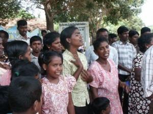 Tamil refugees in Sri Lanka, September 2008.