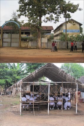 A school denied and The evicted students