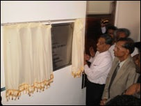 Indian Foreign Minister S.M.Krishna opening Indian consular office in Jaffna