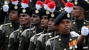 Sri Lankan troops won a decisive victory over the Tamil Tigers in May 2009