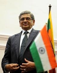 Indian Foreign Minister Somanahalli Mallaiah Krishna
