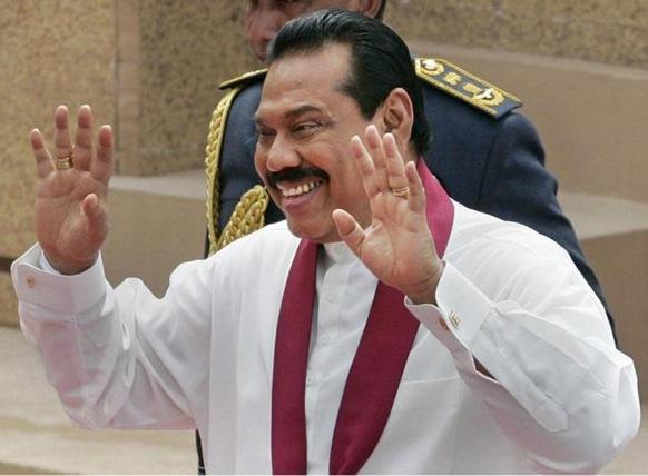 Sri Lankan President Mahinda Rajapaksa: Photo: AP