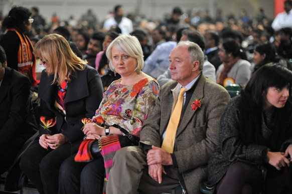 Labour politicians Siobhain McDonagh and Ken Livingstone attending the Tamil National Remembrance Day event in UK