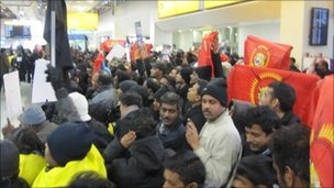 President Rajapaksa's visit to the UK drew strong protests from UK Tamils