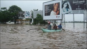 The floods have been the worst to hit eastern Sri Lanka for several years