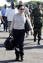 AP United Nations Assistant Secretary-General Catherine Bragg along with government officials arrives in Vavuniya, Sri Lanka on Thursday, Jan. 20, 2011. Ms. Bragg is traveling to Sri Lanka's war-torn and flood-hit areas to launch a $51 million aid appeal to help flood victims recover.