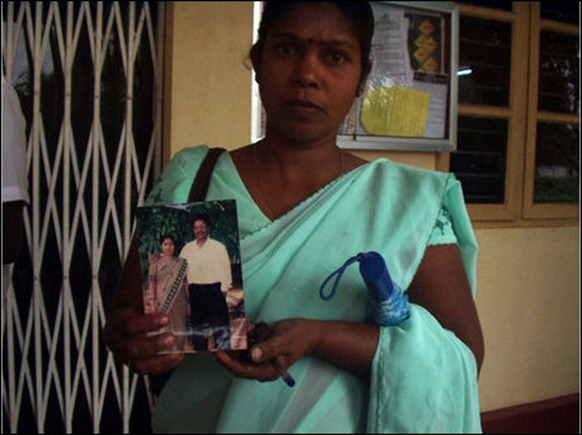 40-year-old Mironio Rayappu, the wife of former LTTE commander Yaan