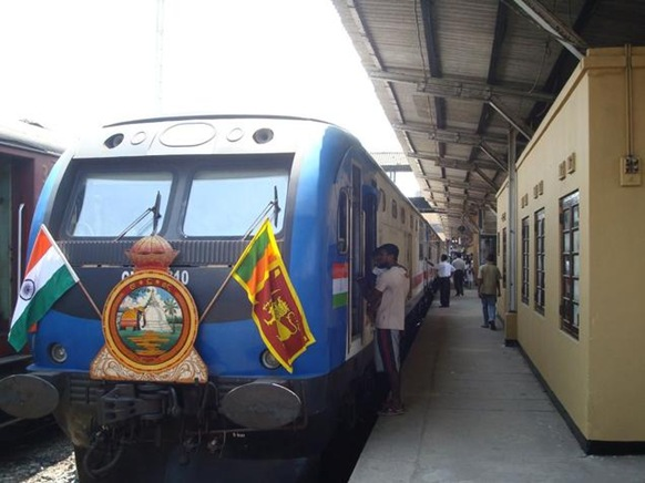 The Galle-Matara section of the Sri Lankan Railways, upgraded by IRCON, was thrown open for traffic on Wednesday. The renovated line cut travelling time by over 15 minutes over the 42-km stretch. Photo: R.K.Radhakrishnan
