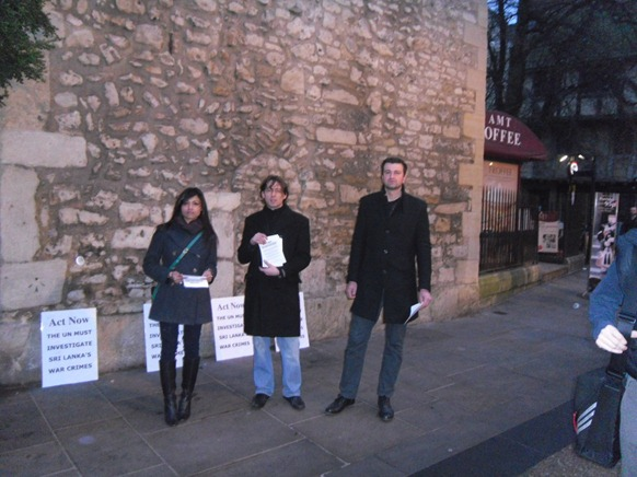 Tim Martin with Act Now supporters handing out leaflets.