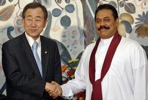 2011_SriLanka_Rajapaksa and Ban
