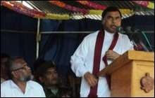 Basil Rajapaksa on an un-announced visit to Jaffna on Monday