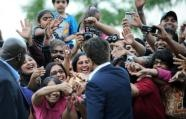 """Slumdog Millionaire"" actor Anil Kapoor drew the loudest cheers on the ""green"" carpet (AFP, Jewel Samad)"
