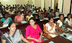 A section of 140 Sinhala SLAS officers brought to Jaffna on Monday