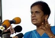 Chandrika Kumaratunga (AFP File, Indranil Mukherjee)