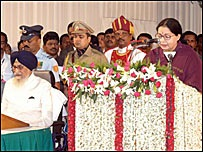 Ms Jayalalithaa accused former CM Karunanidhi with playing a double role in the issue
