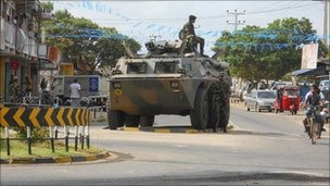 A military brigade has been established in the town of Puttalam after a policeman was killed on Monday