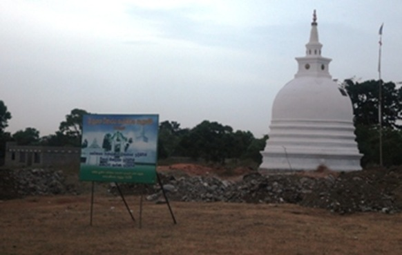 A recently constructed Buddhist stupa at Kanagarayankulam