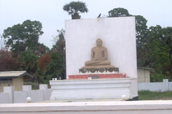 A huge Buddha statue at Kilinochchi, the erstwhile capital of Tamil rebels