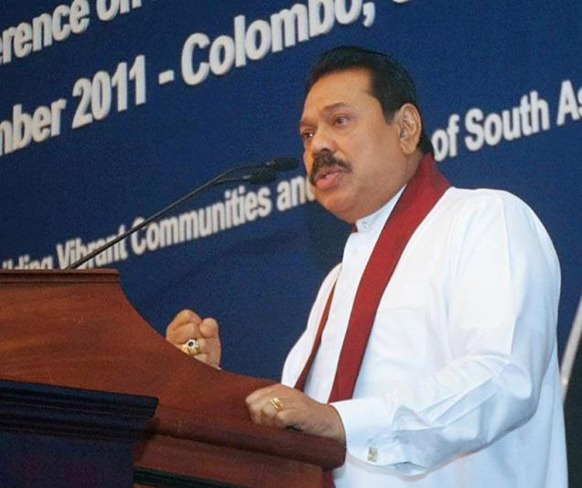 Sri Lankan President Mahinda Rajapaksa addresses the Rotary South Asia Conference on Development and Co-operation, in Colombo on Sunday. Photo: Special Arrangement