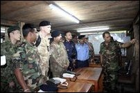 Defence Advisors Attaches of 7 countries visit Sri Lankan SF HQ in Vanni [Photo: Sri Lankan Defence Ministry]