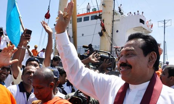 Sri Lanka's president, Mahinda Rajapaksa, who has been linked to war crimes in the fight against the Tamil Tigers. Photograph: Reuters
