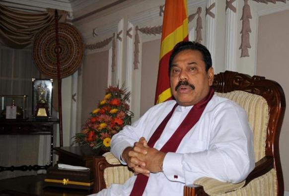 Sri Lankan President Mahinda Rajapaksa. Photo: N. Ram