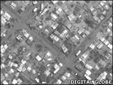 Satellite images show clearance of camps for displaced people in Sri Lanka's conflict zone