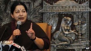A former actress, Ms Jayalalitha has served as chief minister three times