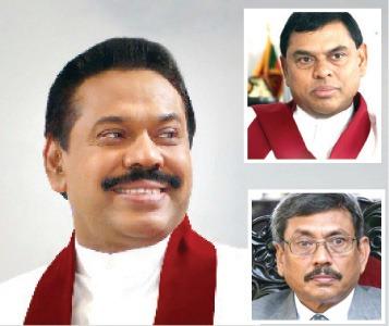 Gotabhaya Rajapaksa, Mahinda Rajapaksa and Basil Rajapaksa