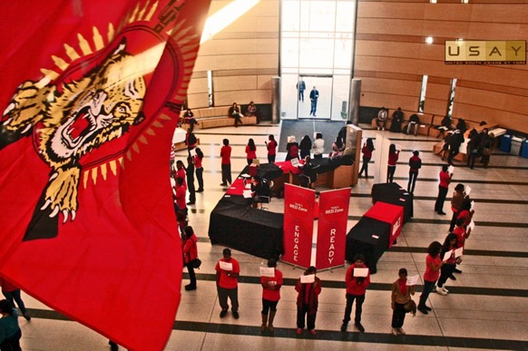 York University Tamil Students' Association stage a flash mob at York University to highlight Tamil Remembrance Week