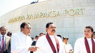 Hambantota Port is in President Rajapaksa's parliamentary constituency