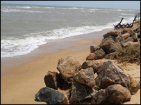The school children have allegedly harassed tourists swimming in Negombo sea