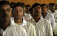 Sri Lankan former Tamil Tiger rebels wait for their release during an official ceremony in Colombo in October 2011 (AFP File, Ishara S.Kodikara)
