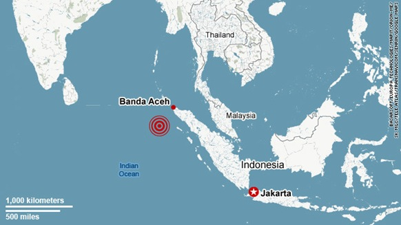 A 7.3-magnitude earthquake struck off the western coast of western Indonesia's Sumatra island early Wednesday