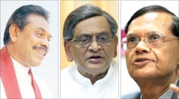 Mahinda Rajapaksa, S.M. Krishna and G. L. Peiris