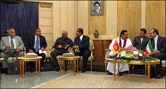 Sri Lanka and Iran have had a close relationship during Rajapaksa presidency